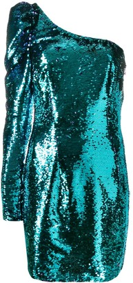 Amen sequined one-sleeve dress