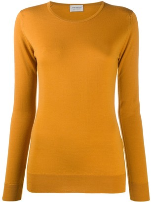 John Smedley Long-Sleeve Fitted Top