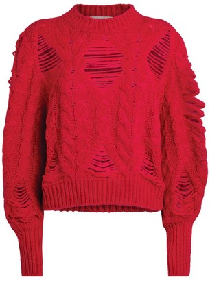Stella McCartney Distressed Cable-Knit Sweater