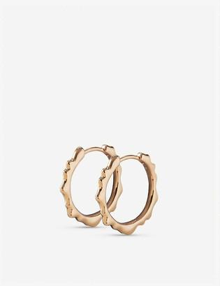 Monica Vinader Siren 18ct gold-plated hoop earrings