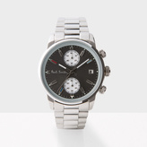 Paul Smith Men's Grey And Silver 'Block' Chronograph Watch