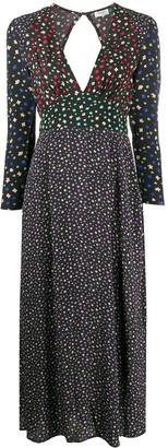 Rixo Floral Print Midi Dress