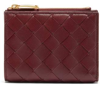Bottega Veneta Intrecciato Leather Wallet - Womens - Burgundy