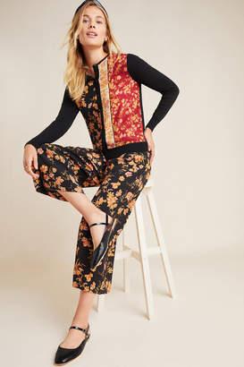 Kachel Della Floral Wide-Leg Trousers