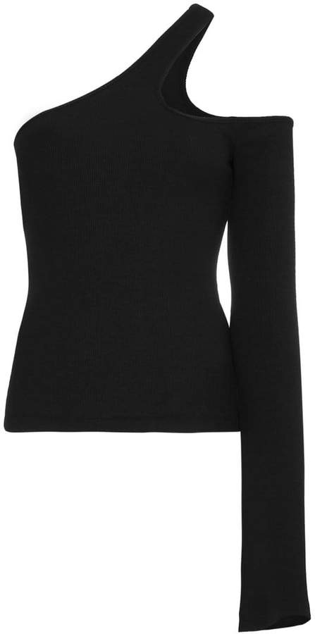 Freya Beaufille cutout one sleeve ribbed top