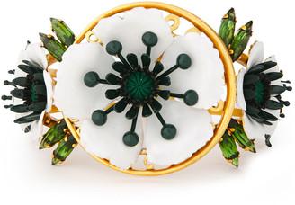 Elizabeth Cole 24-karat Gold-plated, Resin And Swarovski Crystal Cuff