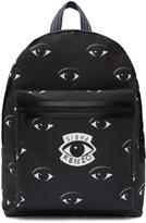 Kenzo Black Nylon Eyes Backpack