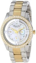Kenneth Cole New York Women's KC4904 Transparency Two-Tone Yellow Gold Transparent Bracelet Watch