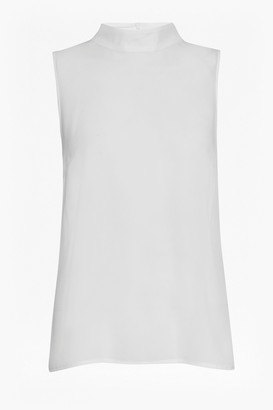 French Connection Classic Crepe and Lace High Neck Top
