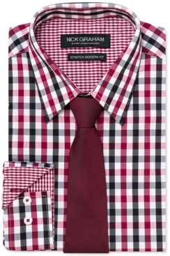 Nick Graham Men's Modern-Fit Dress Shirt and Tie