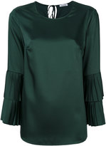 P.A.R.O.S.H. pleated layered sleeves blouse - women - Polyester - S