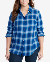 Lauren Ralph Lauren Plus Size Plaid Twill Shirt
