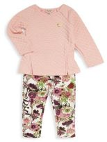 Juicy Couture Little Girl's Long Sleeve Top & Printed Leggings Set