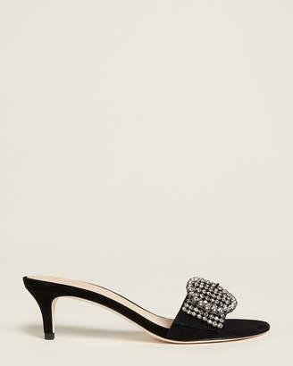Kate Spade Black Seville Embellished Suede Sandals