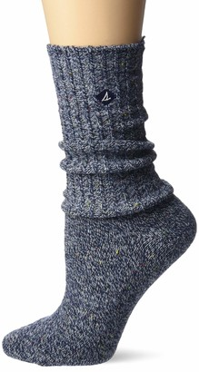 Sperry Women's Marl Boyfriend Crew Socks