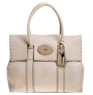 Mulberry Bayswater White Leather Handbags