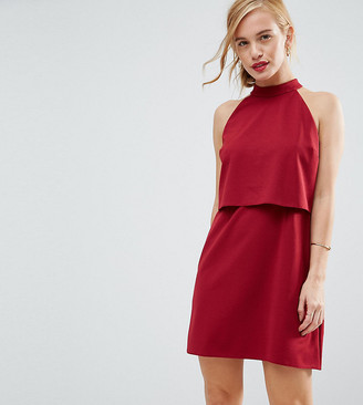 ASOS Double Layer Dress with High Neck