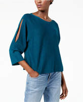 Eileen Fisher Wool Split-Sleeve Sweater, Regular & Petite