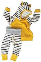 Aliven Baby Girls Boys Long Sleeve Hooded Tops + Leggings Trousers Outfits Set Clothes