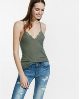 Express one eleven lace-back cami