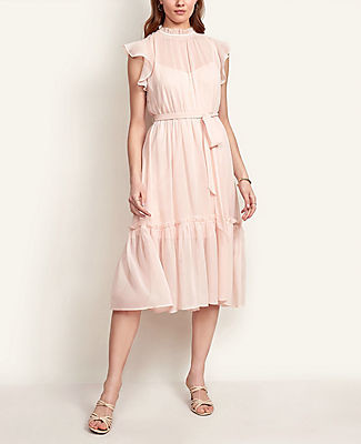 Ann Taylor Petite Ruffle Flare Dress