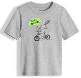 The North Face Take It Outside Heathered Graphic Jersey Tee, Gray, Size 2-4T