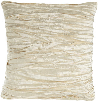 "Austin Horn Collection Charlotte Ruched Silk Pillow, 18""Sq."