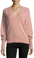 Veronica Beard Deacon V-Neck Cashmere Pullover Sweater