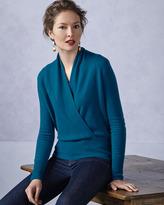Neiman Marcus Faux-Wrap Cashmere Sweater