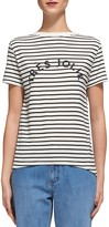 Whistles Striped Graphic-Print Tee