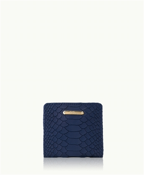 GiGi New York Mini Foldover Wallet Embossed Python