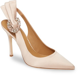 Tory Burch Penelope Crystal Fan Pointed Toe Slingback Pump