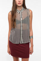 Sparkle & Fade Sleeveless Striped Blouse