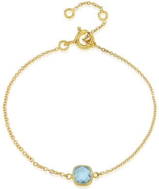 Auree Jewellery Brooklyn Blue Topaz & Gold Vermeil Bracelet