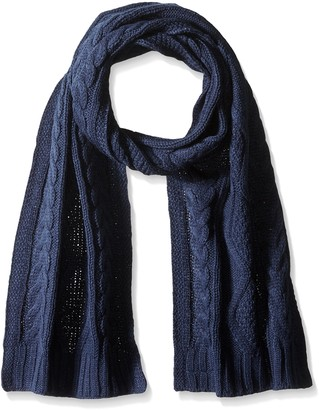 Isotoner Women's Acrylic Cable Knit Scarf