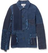 Loewe Bouclé-panelled Patchwork Linen Jacket