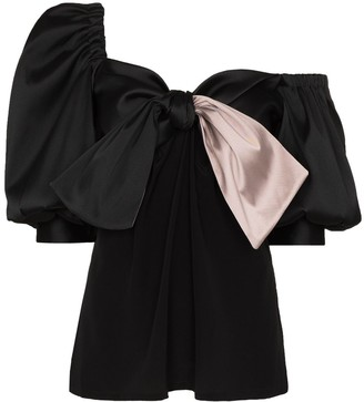 Silvia Tcherassi Bess one-shoulder blouse