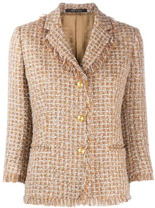 Tagliatore Adele checked tweed jacket