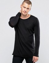 SikSilk Sweater With Raw Edges