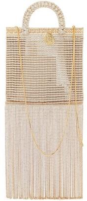 Rosantica Teodora Fringed Crystal-embellished Shoulder Bag - Crystal