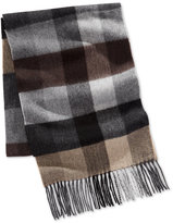 Club Room Men's Buff Plaid Cashmere Scarf, Only at Macy's