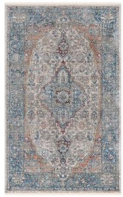 World Menagerie Despina Oriental Navy Beige Ivory Area Rug Rug Size Rectangle 3 X 5 Shopstyle