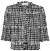 Sonia Rykiel Cropped Checked Boucle Jacket