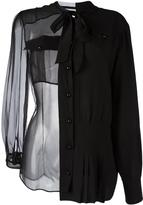Maison Margiela sheer bow detail shirt
