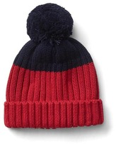 Gap Colorblock pom-pom hat