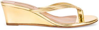 Aquazzura Pedi 45 Wedge in Gold | FWRD