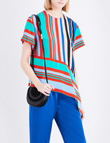 Diane von Furstenberg Striped silk top