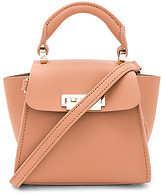 Zac Posen Eartha Iconic Mini Solid Top Handle in Tan.