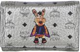 MCM Rabbit Metallic Faux Leather Wallet