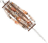 Assad Mounser Faux Pearl and Crystal Multistrand Bracelet